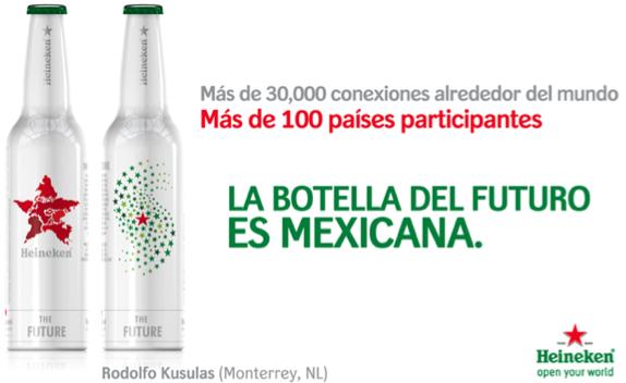 botella conmemorativa al 140 aniversario de Heineken